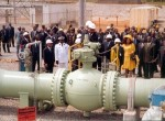 Pipeline inauguration ceremony, Kribi, Cameroon, 2004. Photo: Esso