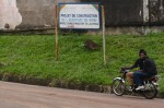 Sign announcing the Kribi airport &quot;project&quot;. Photo by Christiane Badgley