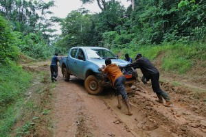 Stuck between Nguti and Ntale, SW region, Cameroon. Photo by Christiane Badgley