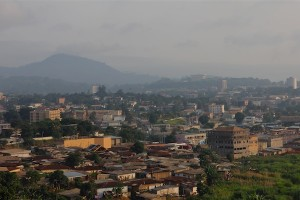 Early morning haze over Yaounde. July 2012. Photo by Christiane Badgley
