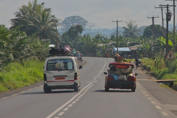 Traveling in the SW region of Cameroon. Photo by Christiane Badgley